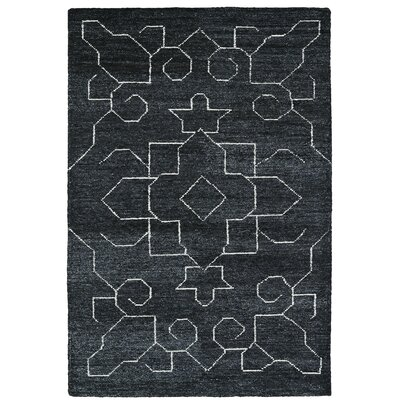 Aracely Hand Woven Charcoal/Ivory Area Rug Rug Size: Rectangle 96 x 13