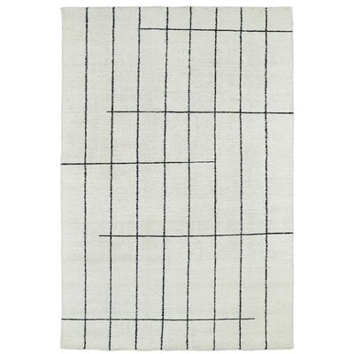 Aracely Hand Woven Ivory/Charcoal Area Rug Rug Size: Rectangle 4 x 6