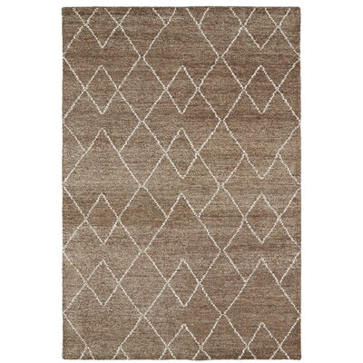 Aracely Handmade Brown / Ivory Area Rug Rug Size: 2 x 3