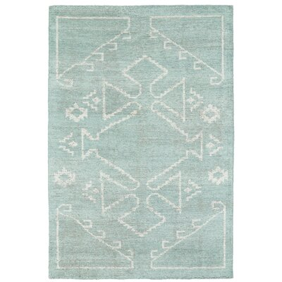 Aracely Hand Woven Mint/Ivory Area Rug Rug Size: Rectangle 4 x 6