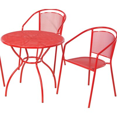 Helena 3 Piece Bistro Set Color: Cherry Pie