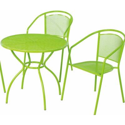Helena 3 Piece Bistro Set Color: Keylime Green
