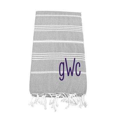Prather Turkish Bath Towel Color: Gray
