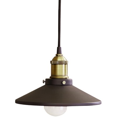Abbas 1-Light Mini Pendant Size: 6 H x 14 W x 14 D