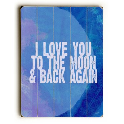 'Love You to the Moon' Textual Art Size: 16