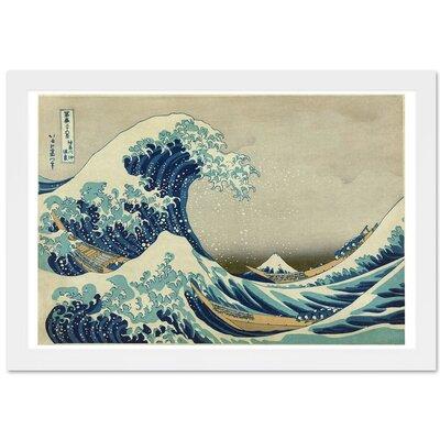 'The Great Wave of Kanagawa' by Katsushika Hokusai Framed Painting Print Size: 16
