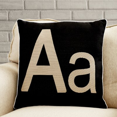 Appling Initial Throw Pillow Letter: A