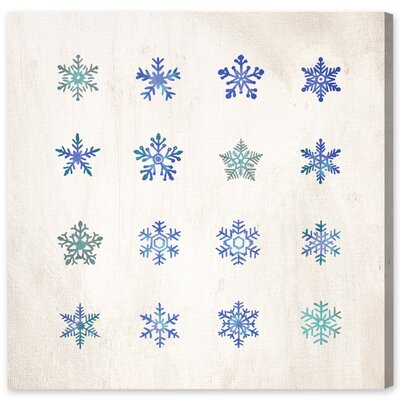 Furniture-Mercury Row Snowflakes Painting Print on Canvas