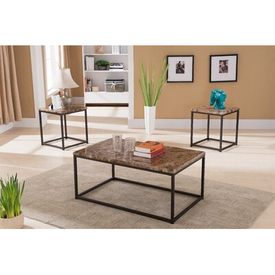 Kamden 3 Piece Coffee Table Set