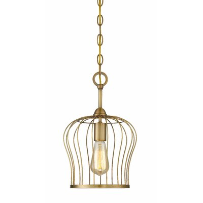 Arango 1-Light Mini Pendant Finish: Antique Brass