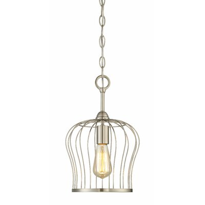 Arango 1-Light Mini Pendant Finish: Satin Nickel