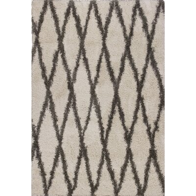 Electra Ivory/Gray Area Rug Rug Size: 53 x 77
