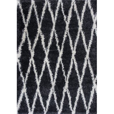 Electra Charcoal Area Rug Rug Size: 53 x 77