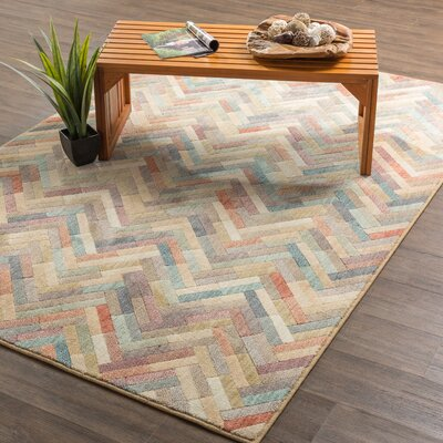 Arbogast Tan Area Rug Rug Size: Rectangle 8 x 11