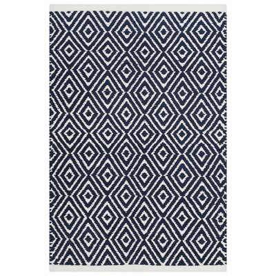 Arbuckle Cotton Navy Area Rug Rug Size: Rectangle 26 x 4