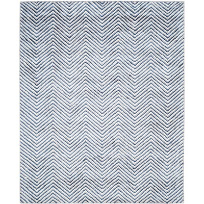 Arceo Hand-Tufted Ivory/Navy Area Rug Rug Size: Rectangle 2 x 3