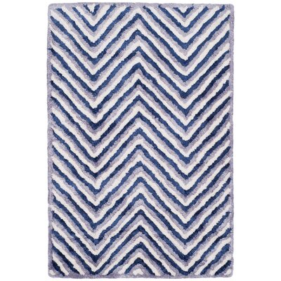 Arceo Hand-Tufted Ivory/Navy Area Rug Rug Size: Rectangle 4 x 6
