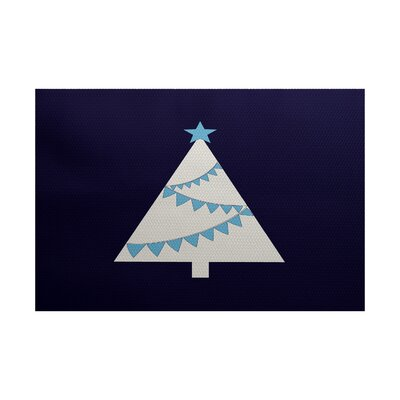 Christmass Blue Indoor/Outdoor Area Rug Rug Size: 2 x 3