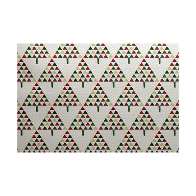 Christmass Gray Indoor/Outdoor Area Rug Rug Size: 5 x 7