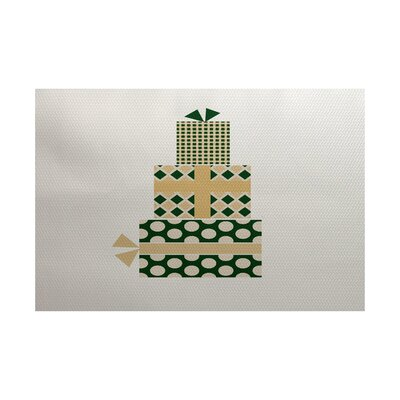 Green Indoor/Outdoor Area Rug Rug Size: 5 x 7
