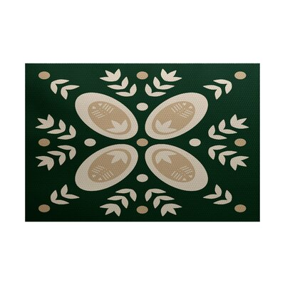 Winter Green Indoor/Outdoor Area Rug Rug Size: 5 x 7