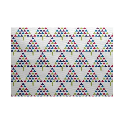 Christmass White Indoor/Outdoor Area Rug Rug Size: 5 x 7