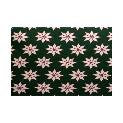 Christmass Green Indoor/Outdoor Area Rug Rug Size: 4 x 6