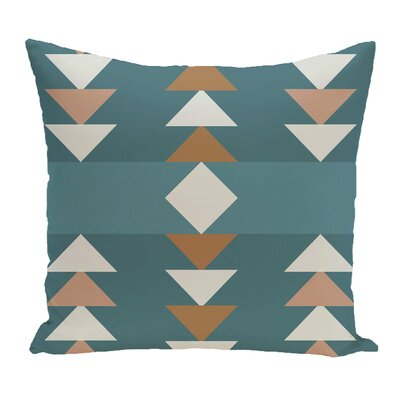 Kleopatros Geometric Outdoor Throw Pillow Color: Aqua