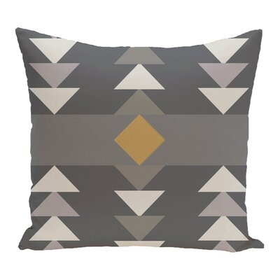 Kleopatros Geometric Outdoor Throw Pillow Color: Gray