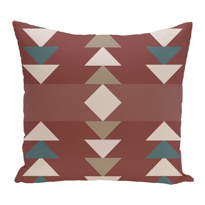 Kleopatros Geometric Outdoor Throw Pillow Color: Orange