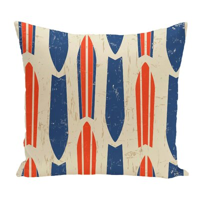 Cobscook Modern Geometric Outdoor Throw Pillow Color: Orange