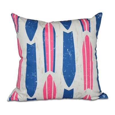Astor Place Geometric Outdoor Throw Pillow Color: Pink
