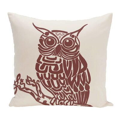 Galvan Animal Outdoor Throw Pillow Color: Off White/Brown