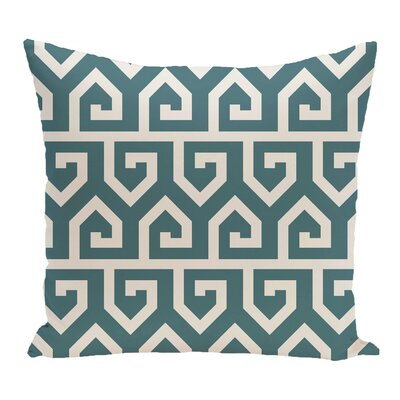 Nikanor Geometric Outdoor Throw Pillow Color: Teal