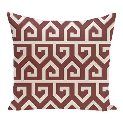 Nikanor Geometric Outdoor Throw Pillow Color: Rust