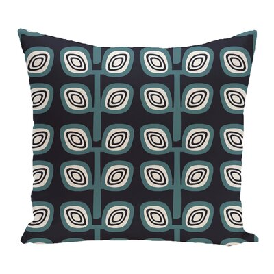 Philon Leaf Tree Geometric Outdoor Throw Pillow Color: Navy Blue