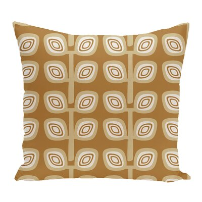 Philon Leaf Tree Geometric Outdoor Throw Pillow Color: Gold