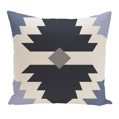 Cleon Geometric Outdoor Throw Pillow Color: Blue
