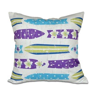 Cobscook Geometric Outdoor Throw Pillow Color: Purple