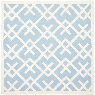 Cassiopeia Handmade Light Blue/Ivory Area Rug Rug Size: Square 6
