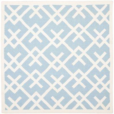 Cassiopeia Handmade Light Blue/Ivory Area Rug Rug Size: Square 6