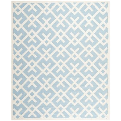 Cassiopeia Handmade Light Blue/Ivory Area Rug Rug Size: Rectangle 8 x 10