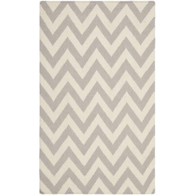 Vanderhoof Handmade Grey / Ivory Area Rug Rug Size: 3 x 5