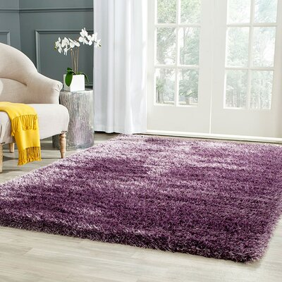 Virgo Lavender Area Rug Rug Size: Rectangle 6 X 9