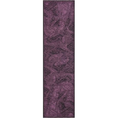 Circinus Black/Purple Area Rug Rug Size: Runner 2 x 73
