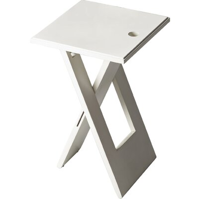 Davidson 19.25 Square Folding End Table Color: White