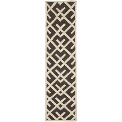 Cassiopeia Handmade Wool Brown/Ivory Area Rug Rug Size: Runner 26 x 12