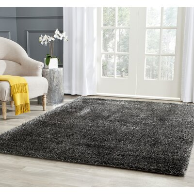 Virgo Charcoal Area Rug Rug Size: 6 X 9