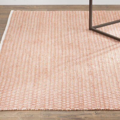Amicus Hand Tufted Orange Area Rug Rug Size: Square 6