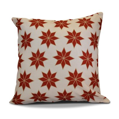 Decorative Holiday Indoor Geometric Print Throw Pillow Size: 20 H x 20 W, Color: Red